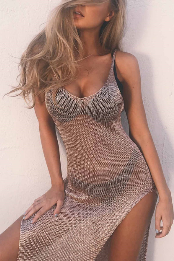 Gorgeous golden Beach Dress