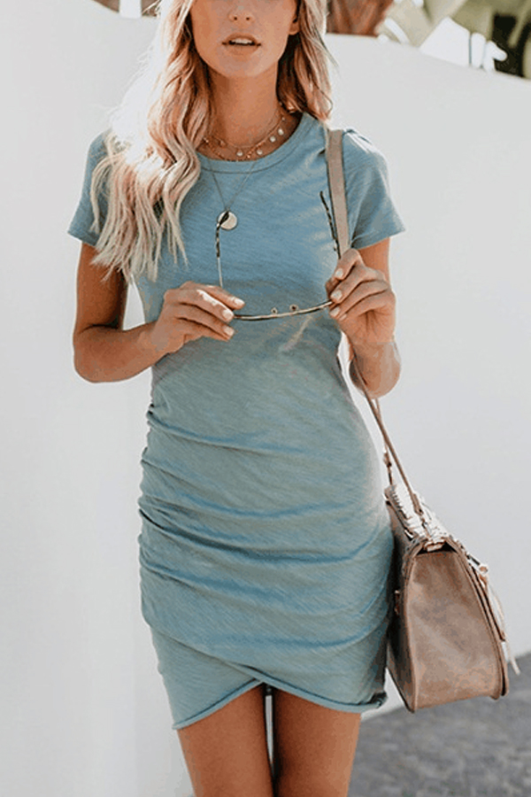 Lovely Summer Cotton Mini Dress
