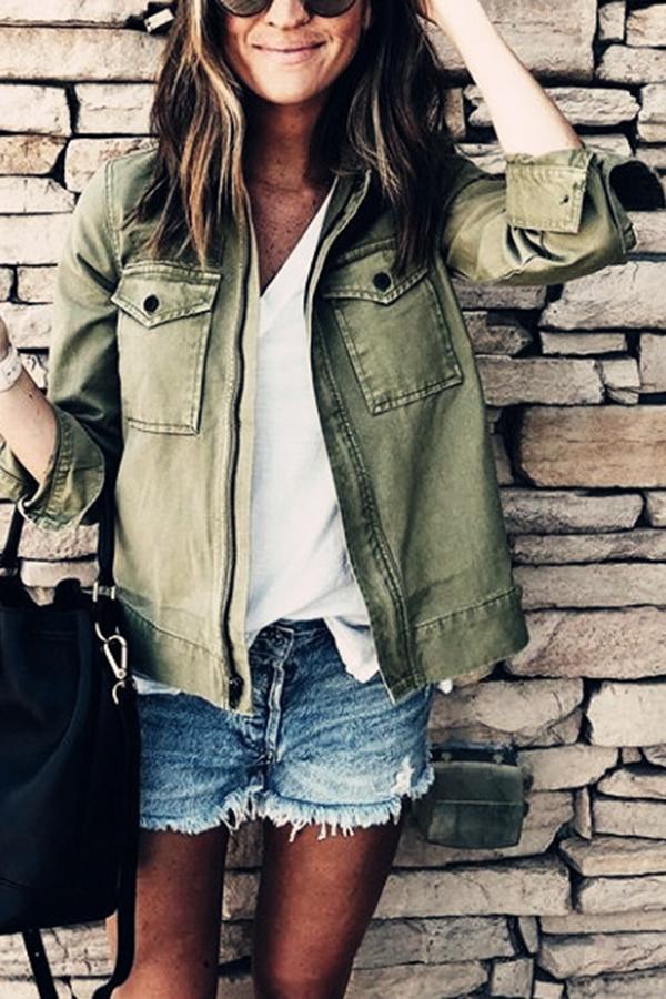 Basic Spring Look - Caki Jacket
