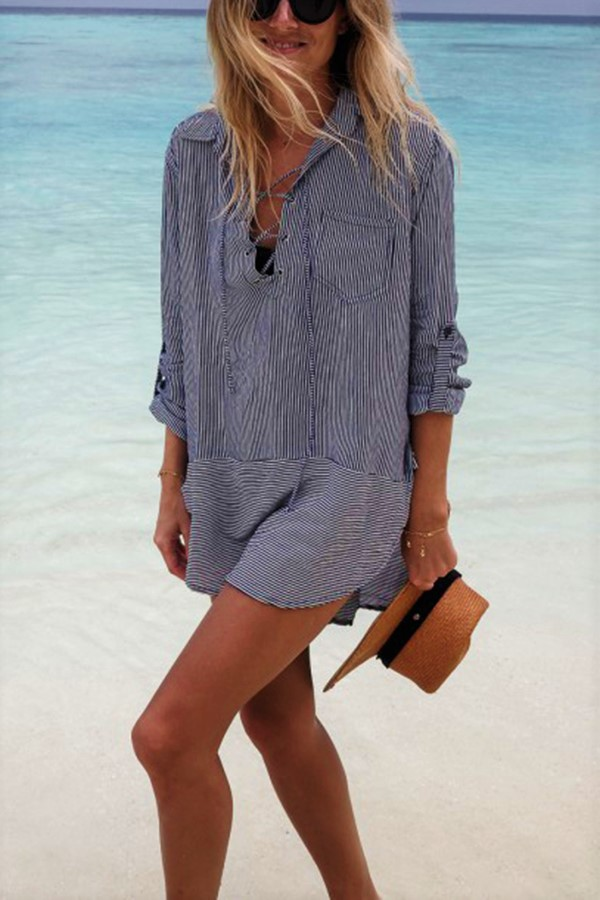 Beach Striped Blouse