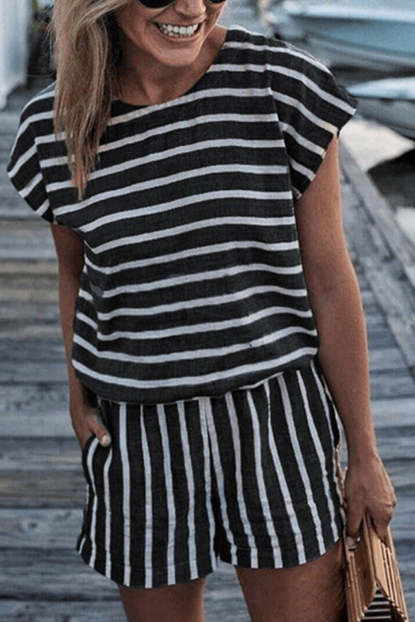 Beach Stripes Short Jumpsuit - summer outfit