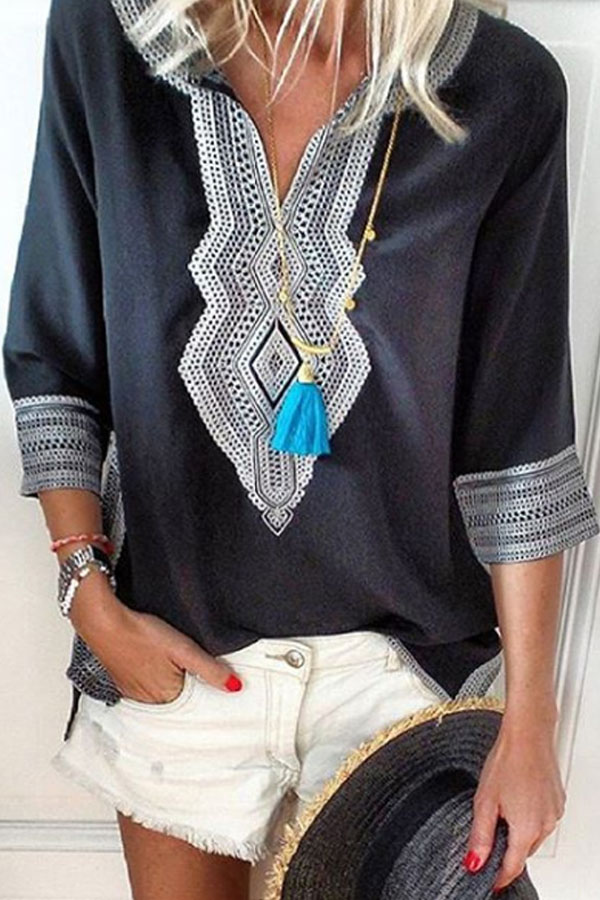 Bohemian Casual Blouse #boho #bohooutfit #summeroutfit