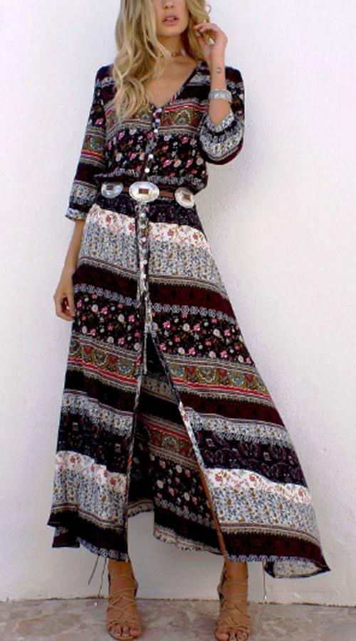 Bohemian Maxi Dress #boho #bohemian #bohodress #bohemiandress #bohooutfit #bohemianoutfit