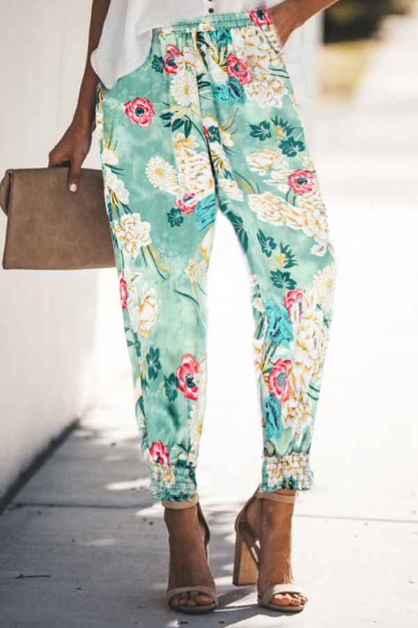 Casual Summer Print Pants
