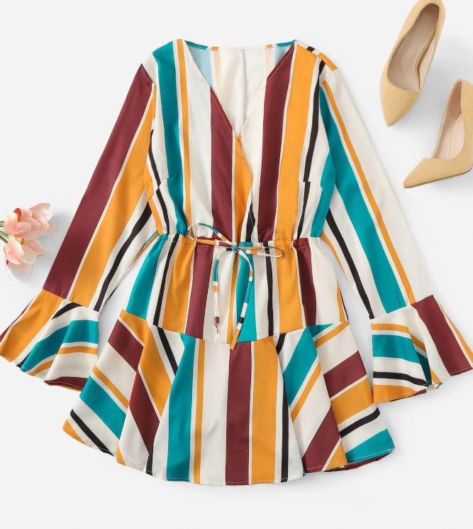 Colored Striped Summer Dress