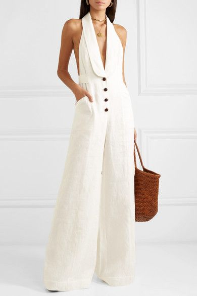 Corsage Tailored Jumpsuit by Zimmermann