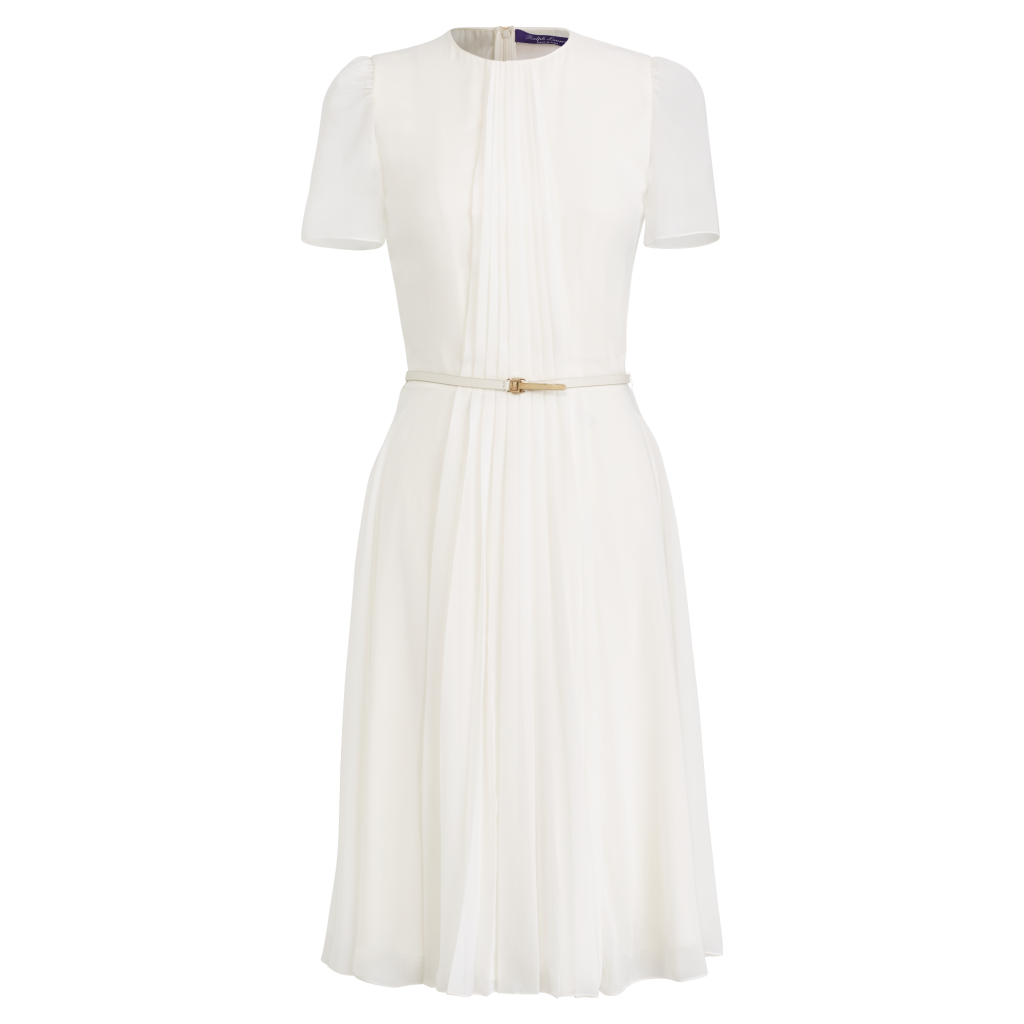 Delicate A-Line White Dress by Ralph Lauren