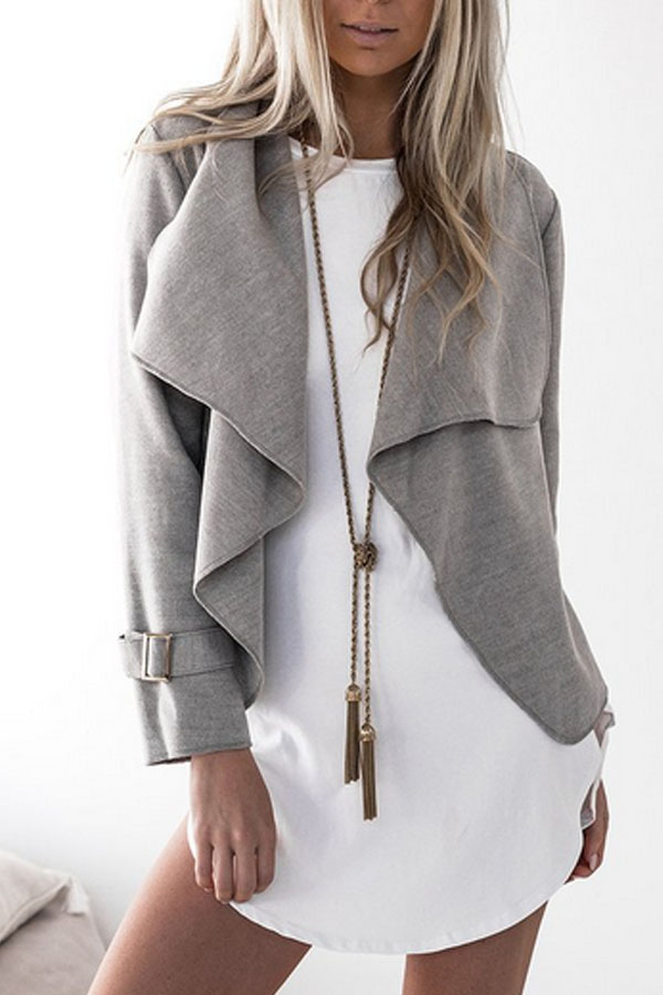 Grey Lapel Jacket