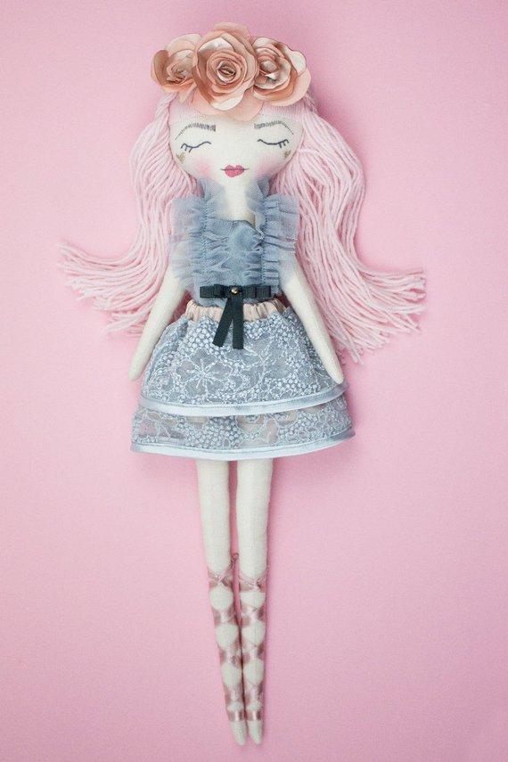Handmade cloth doll - Fabric doll - Heirloom doll - Interior decor - Gift for girl