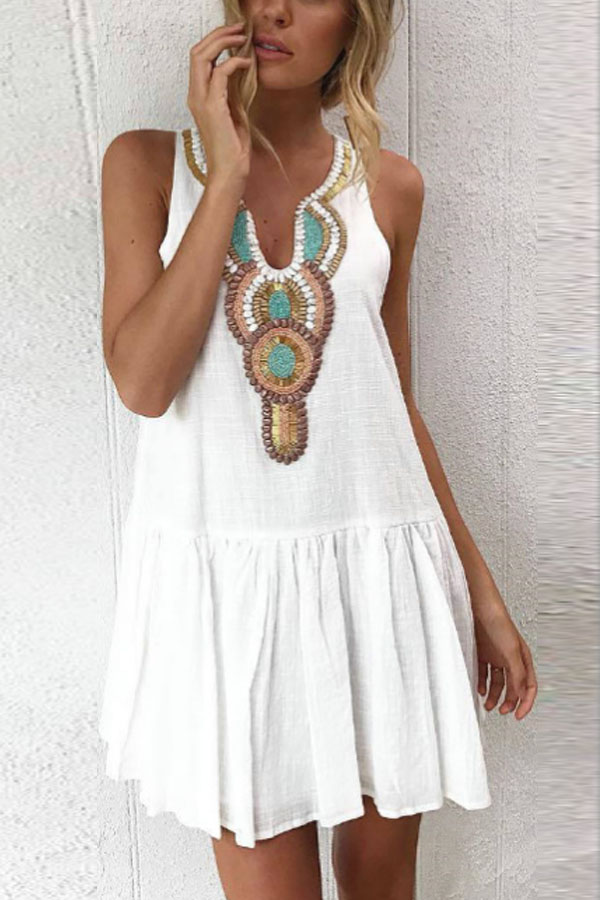 Hippy Gypsy Indi Boho Summer Dress