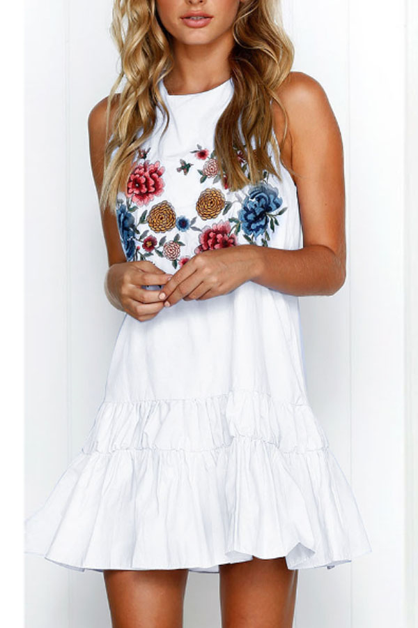 Lovely Floral CaAsual Dress
