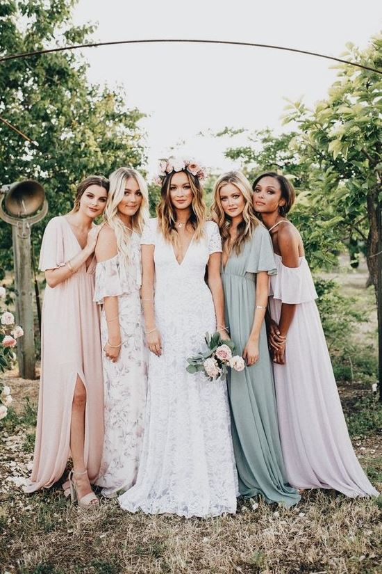 Lovely boho bridesmaides dresses