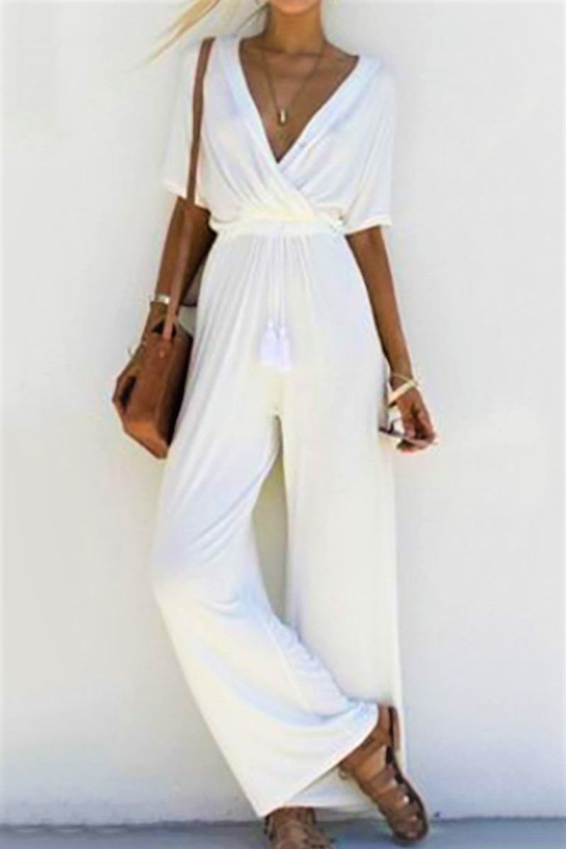 Spring White Jumpsuit