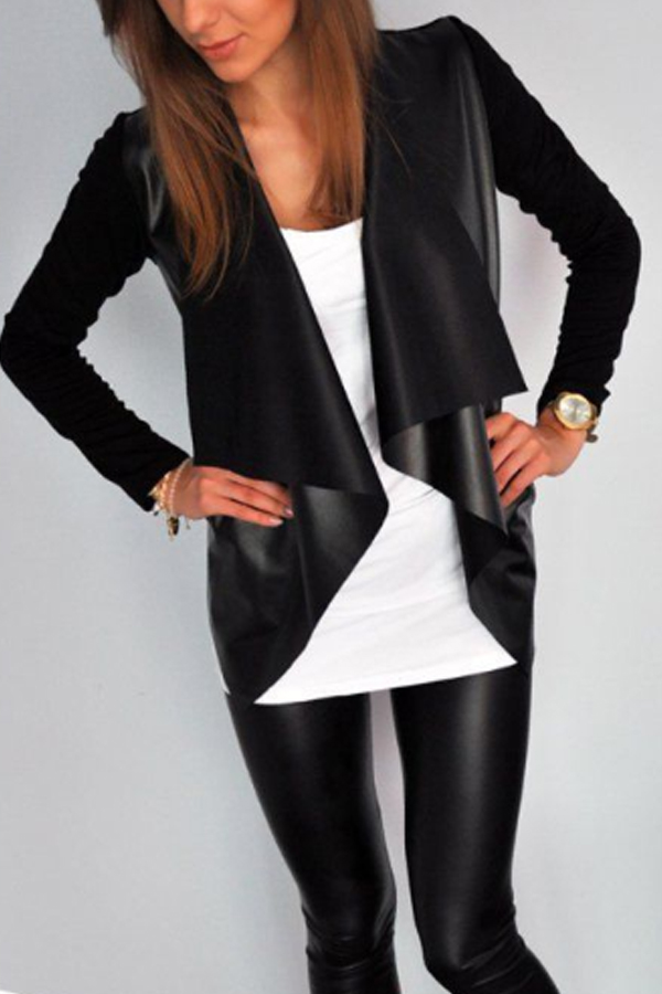 i love this Black Fold Over Collar Jacket