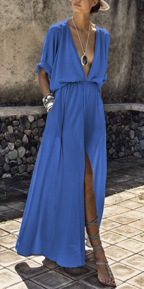 i love this maxi loose blue dress ... stunning!!