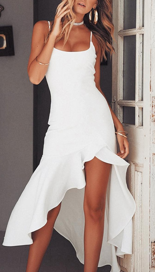 sexy hippy chic white dress