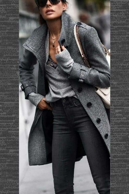 So cute Autumn Outfit !! i love this look in black and grey!