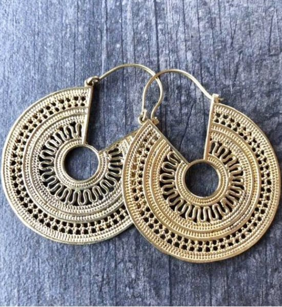 Lovely golden ethnic earrings