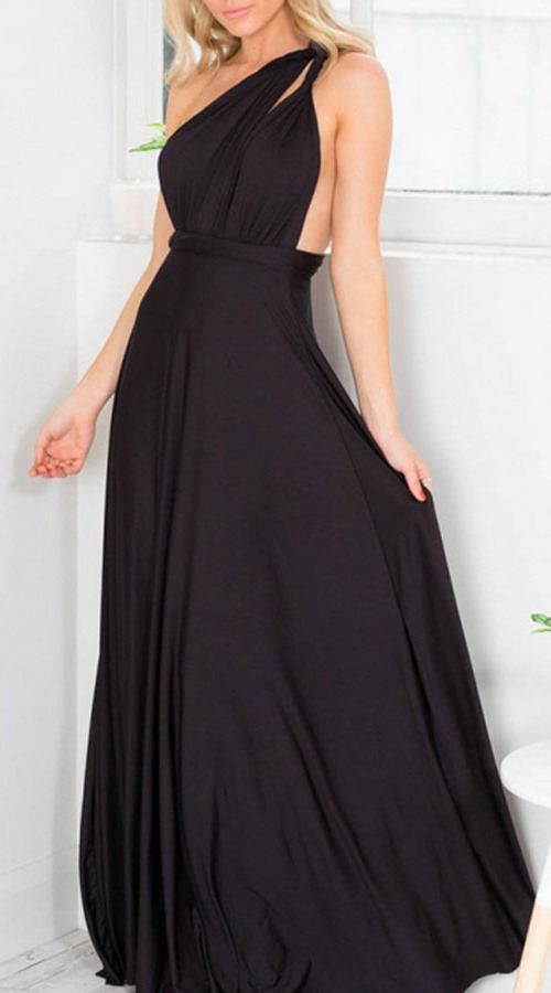 Multi Way Black Maxi Dress