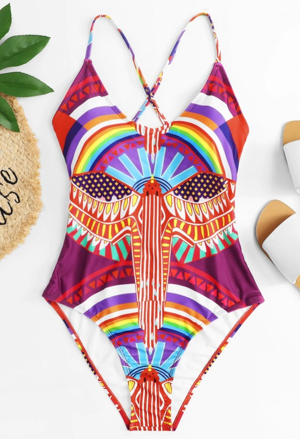 One Piece Geometric Swimsuit