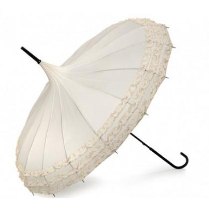 This umbrella sure make highlight your wedding photos as well as being useful for the weather.