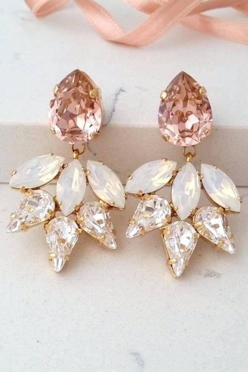 Amazing, breathtaking bridal earrings - high fashion inspired