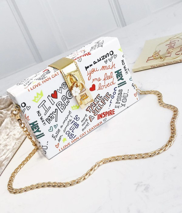 Casual Print Chain Bag