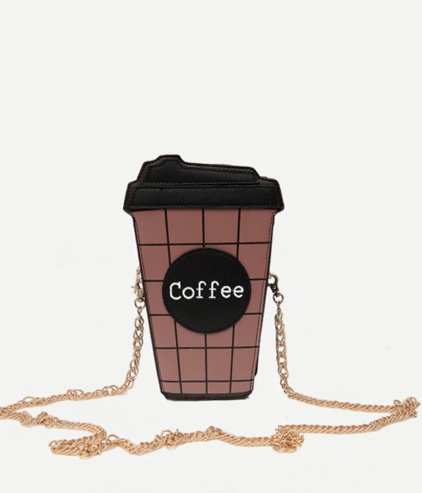 Coffe Bottle Design Chain Bag
