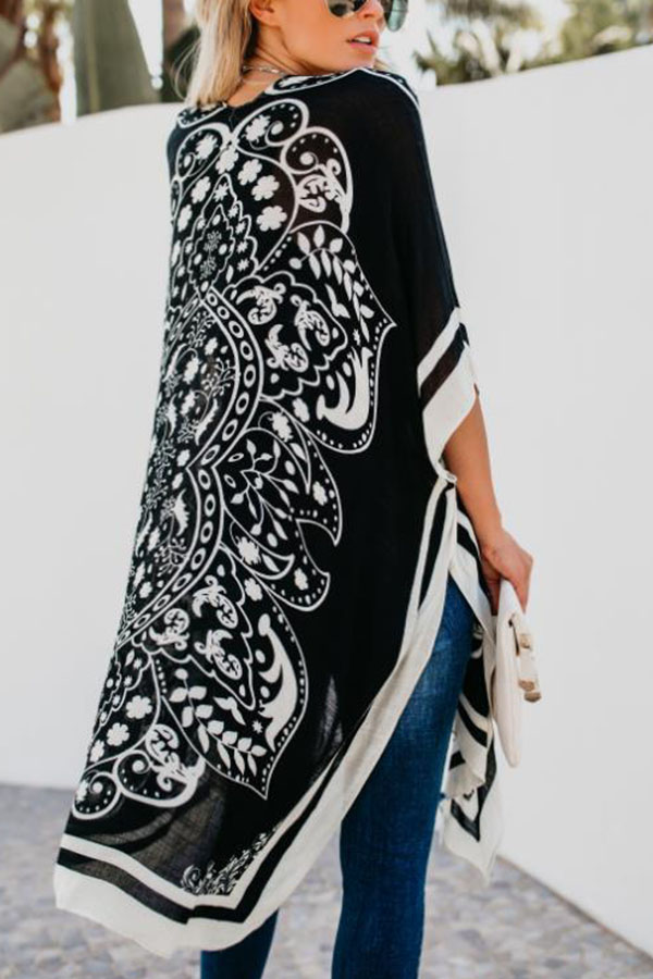 Hippy Chic Look - Printed Cover Ups in black and white