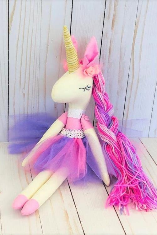 Lovely Beautiful Unicorn Doll - unicorn doll - unicorn - gift for girls - girls room decor - fabric doll - cloth doll - unicorn cloth doll