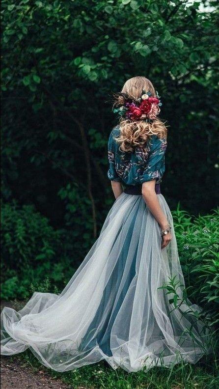 Lovely diferent forest boho bride #bohobride #bohostyle #bohowedding #diferentbohobride