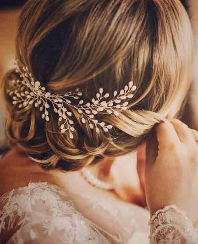 Pearl Leaves Bridal Headdress