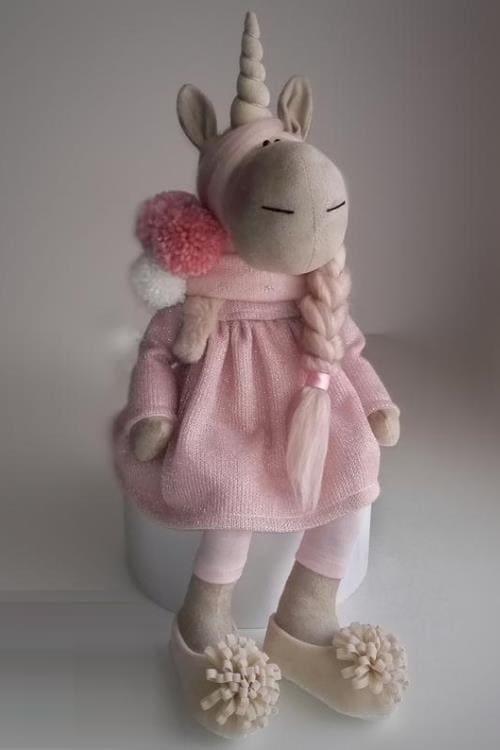 Unicorn doll Fabric doll handmade Girls room decor