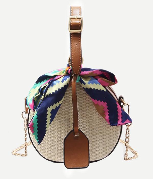 lovely circular woven bag