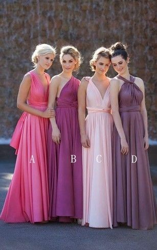 multiway convertible a-line sleeveless bridesmaid dress