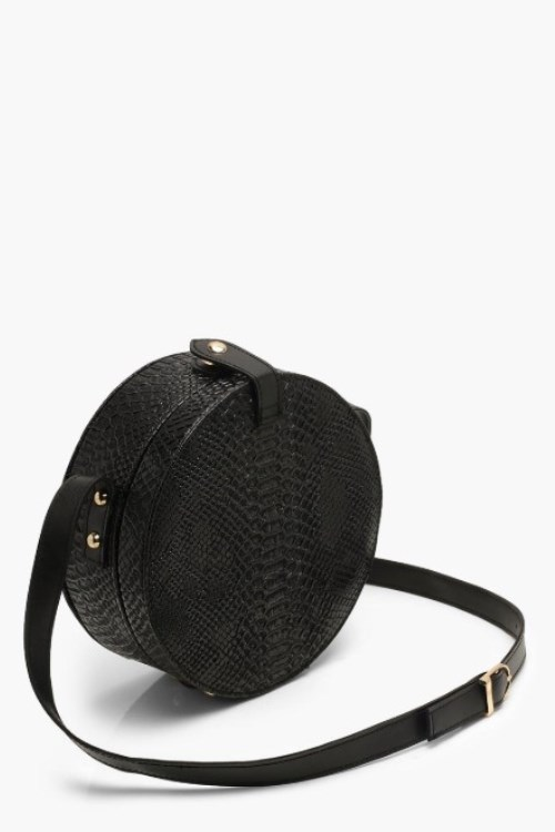 one of the trendy bags this seasson are structured round drum bags
