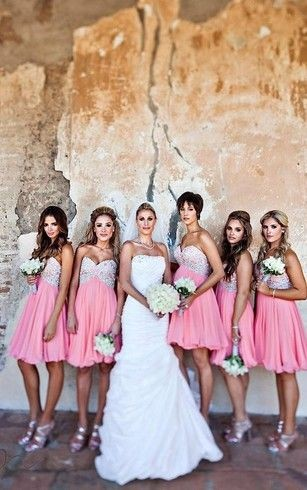 short bridesmaid dresses with crystals