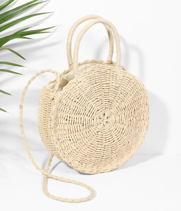 summer round straw bag