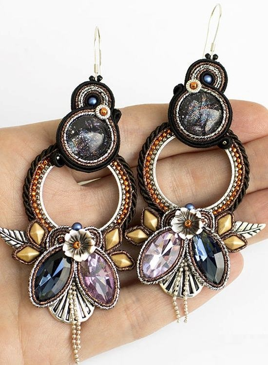 Big statement soutache earrings