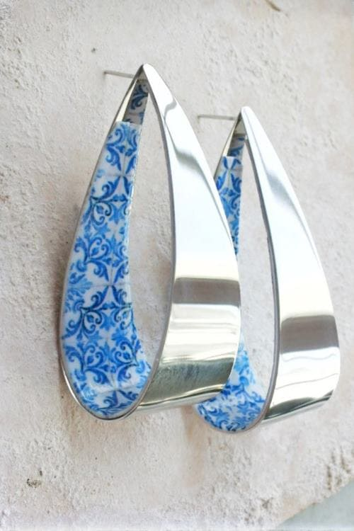 Hoop Hoops Atrio Tile Earrings Portugal