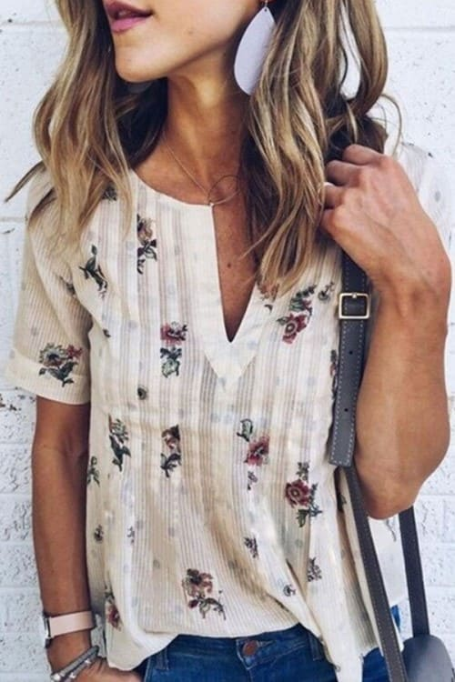 Lovely Floral Printed Blouse