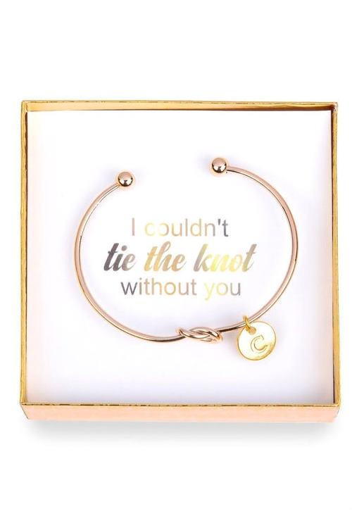 Personalized Initial Bridesmaid Gift, Bridesmaid Proposal, Bridesmaid Bracelet, Bridesmaid Gift Box, Will You Be My Bridesmaid, Tie the Knot
