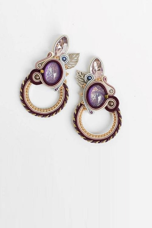 Boho Pulple Earrings
