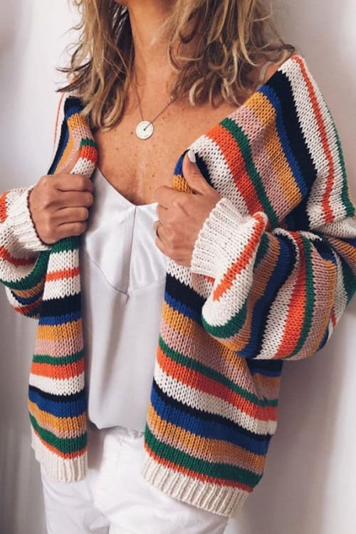 Colouring striped Cardigan