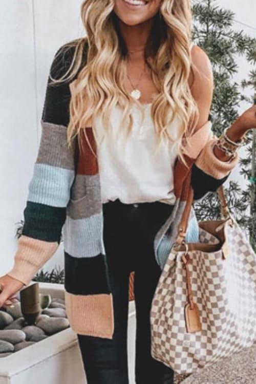 Cute colorful striped cardigan