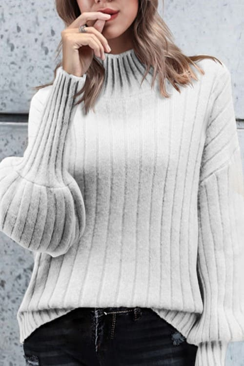 High Neck Sweater, i love the sleeves!!