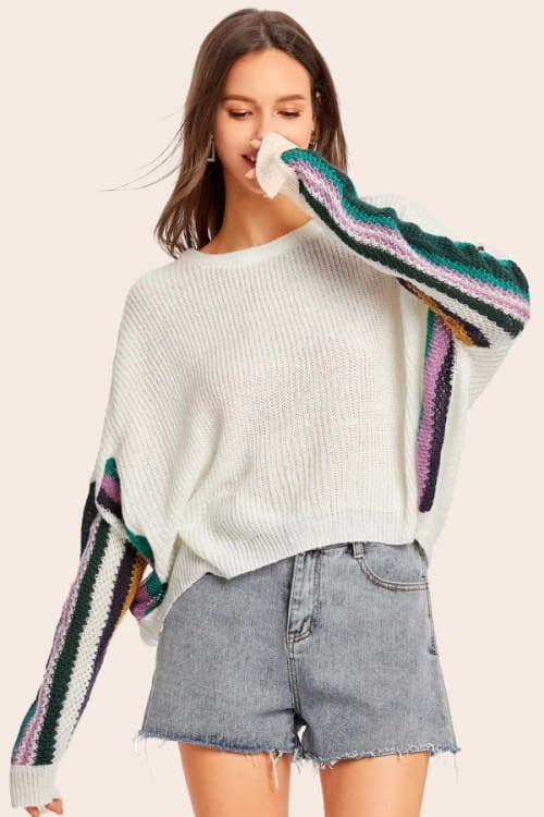 Loose Oversize Batwing Sleeve Sweater