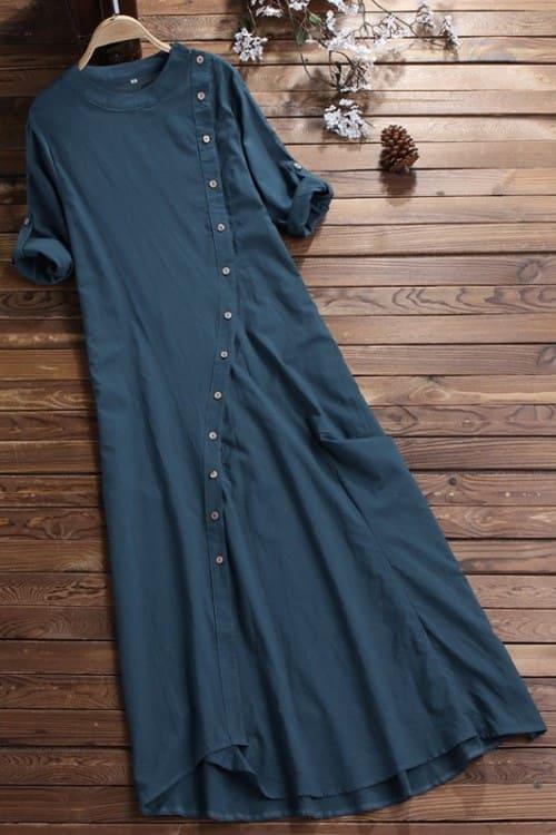 Lovely Vintage Blue Maxi Dress