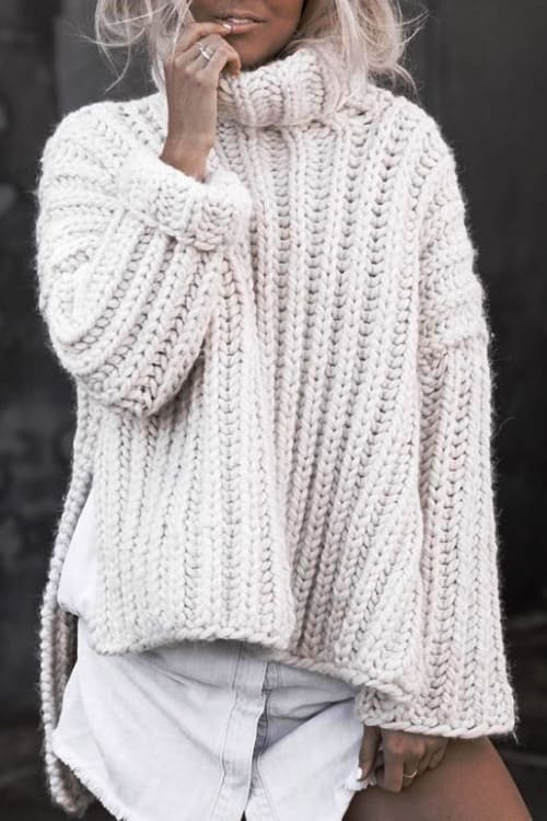 Lovely thick sweater the trend of the fall-winter 2019