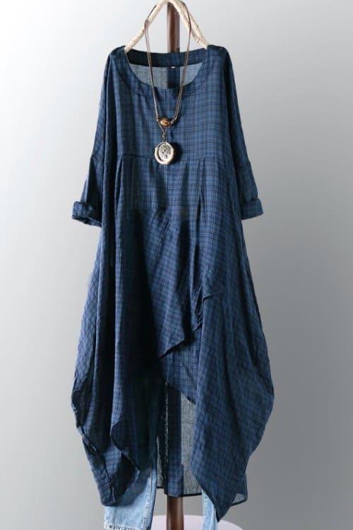 Vintage Loose Maxi Dress